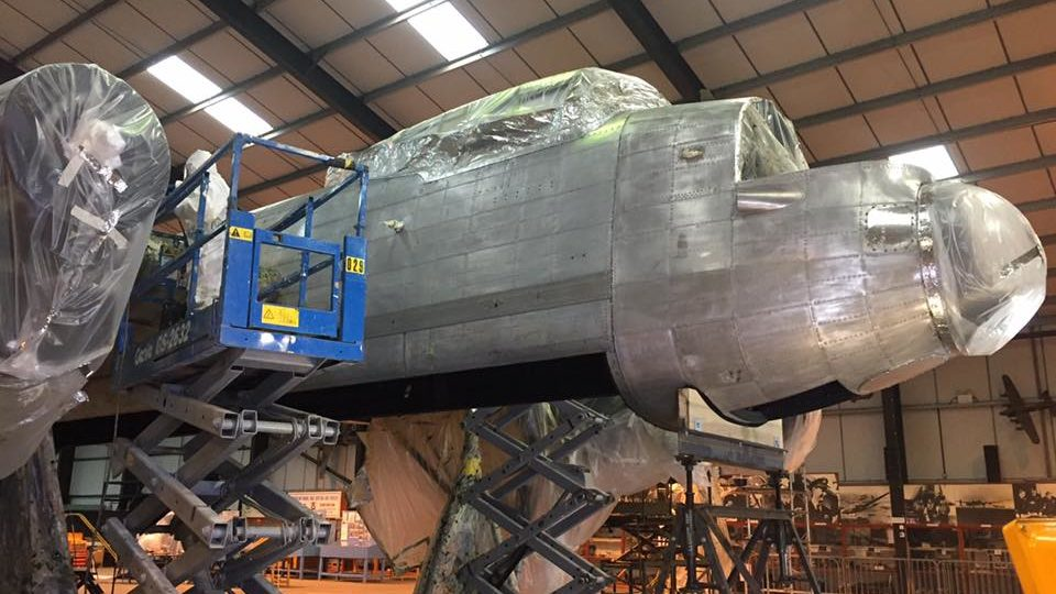 Lancaster NX611 'Just Jane' stripped